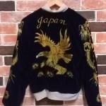 50's vintage 別珍×サテン ゴールドステッチ  SOUVENIER JACKET    大阪 古着屋 JAM
