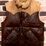 70's vintage Rocky Mountain  Featherbed  all  Leather  down vest大阪   古着屋   jam