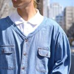 【新入荷】さらっと羽織れるデニム素材のJAMリメイクベースボールシャツがおすすめ。