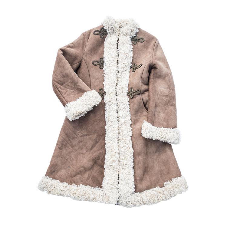 ムートンコート シープスキン ヘビーアウター 60年代ファッション フォークロア レディース 古着 コーディネート