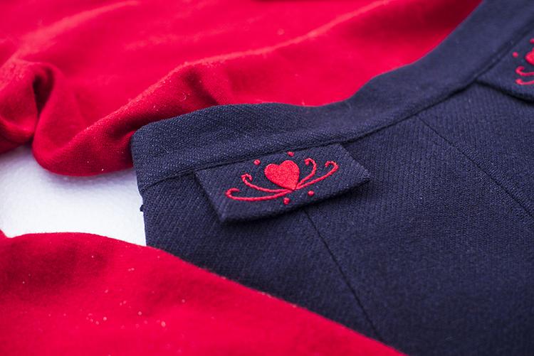ハーフスカート コーデ 刺繍 50年代ファッション 古着