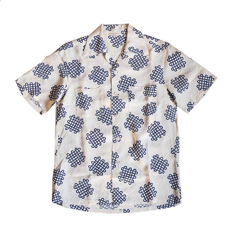 シルク ハワイアンアロハシャツ ヴィンテージ 50年代 メンズ 古着