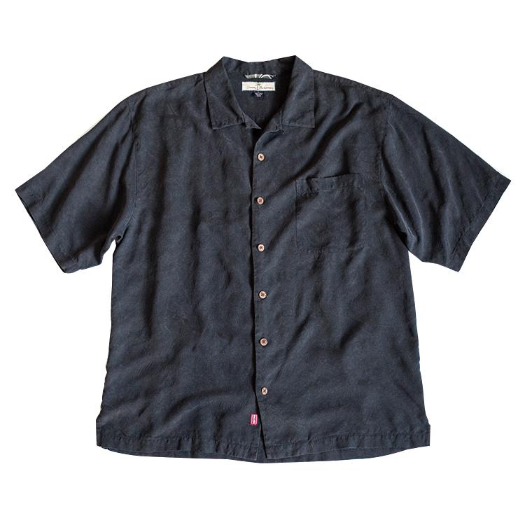 アロハシャツ メンズ 黒 トミーバハマ 古着