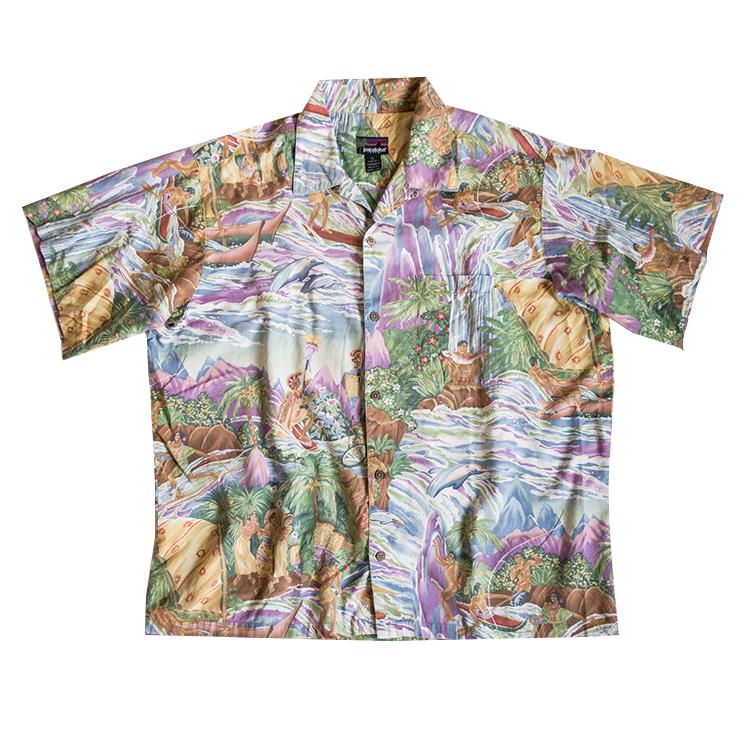 ハワイアンアロハシャツ ヴィンテージ パタゴニア パタロハ90年代 メンズ 古着