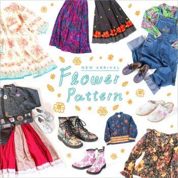 花柄 ボタニカル柄 花柄刺繍 ファッション レトロ トップス ワンピース レディース 古着 コーディ ネート 春ファッション 春コーデ