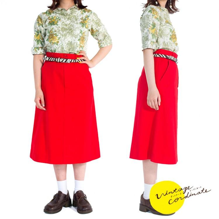 ヴィンテージ ブラウス レディース 古着 コーデ コーディネート ファッション 春コーデ 春ファッション