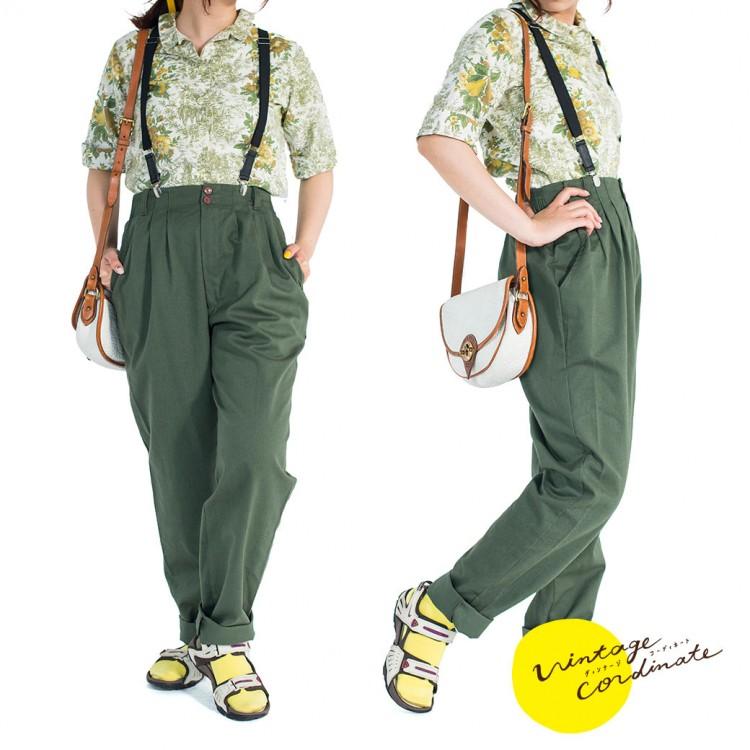 ヴィンテージ ブラウス パンツ レディース 古着 コーデ コーディネート ファッション 春 コーデ 春ファッション