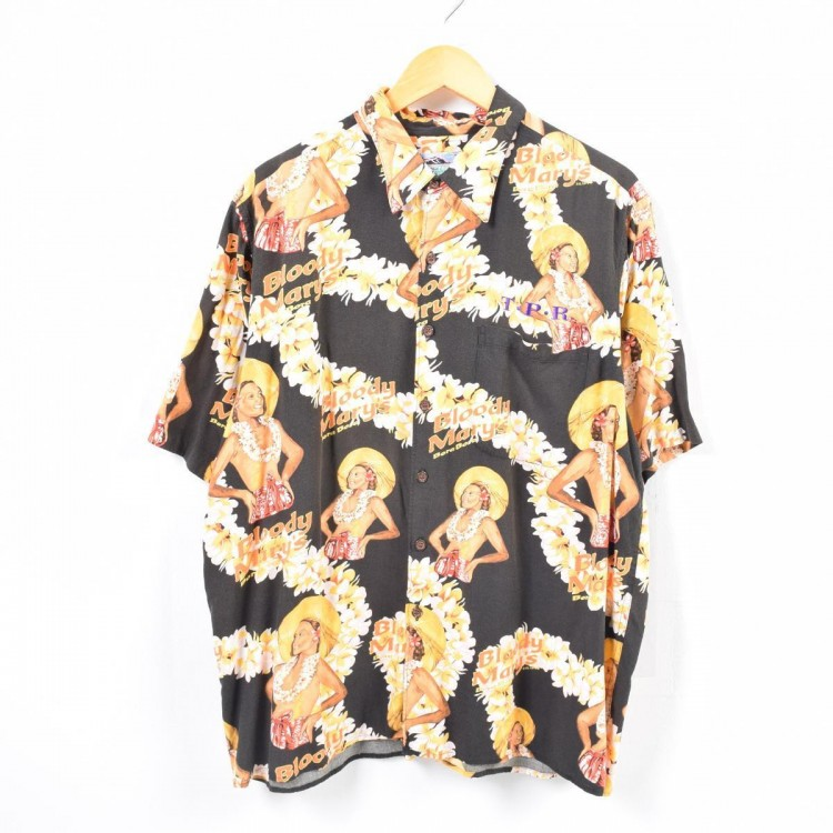 古着屋JAMのアロハシャツ_フラ