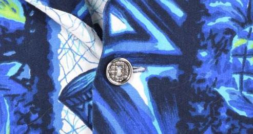 古着屋JAMのアロハシャツ_メタルボタン