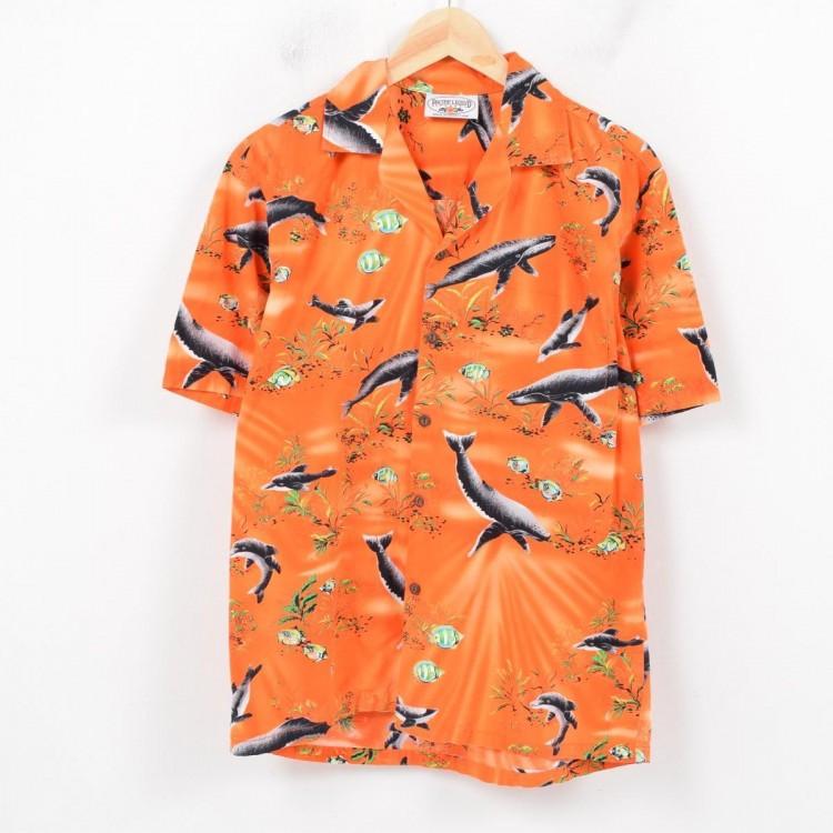 古着屋JAMのアロハシャツ_クジラ