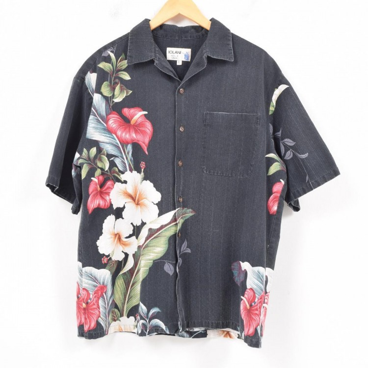 古着屋JAMのアロハシャツ_ハイビスカス