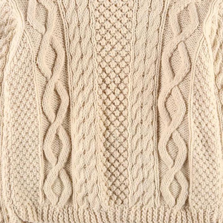 ダイヤモンド編み模様