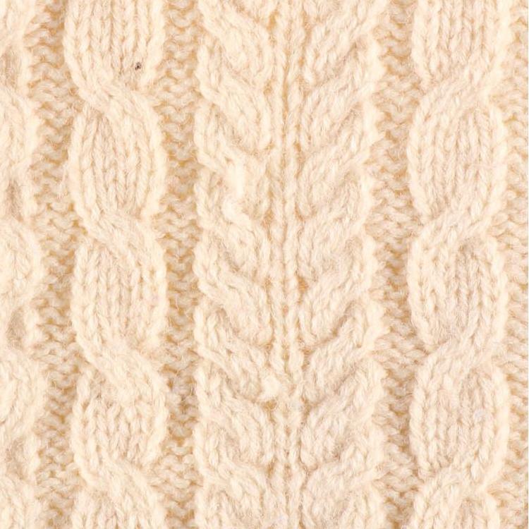 ケーブル編み模様