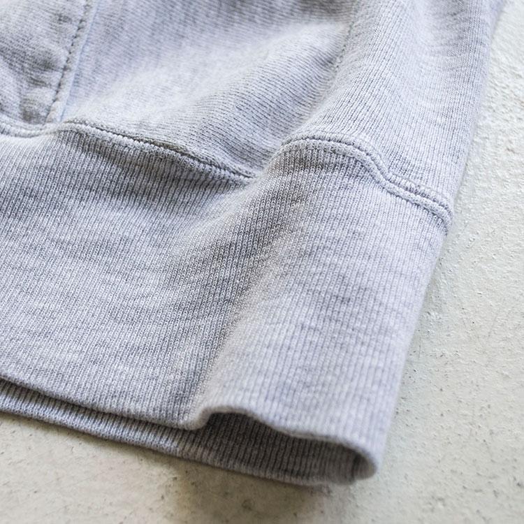 リバースウィーブの裾リブ部分