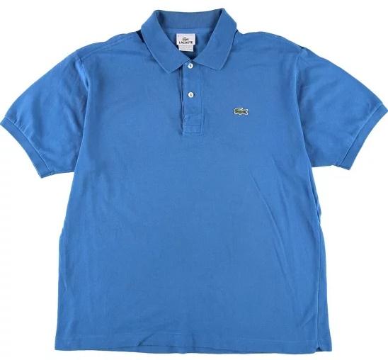 ラコステポロシャツ青