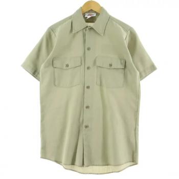 半袖ワークシャツの人気カラー:ベージュ