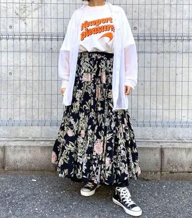 白Tシャツコーデ9