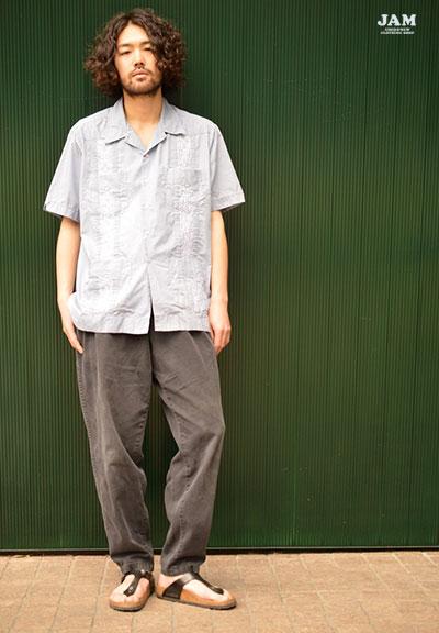 古着屋JAMのキューバシャツコーデ