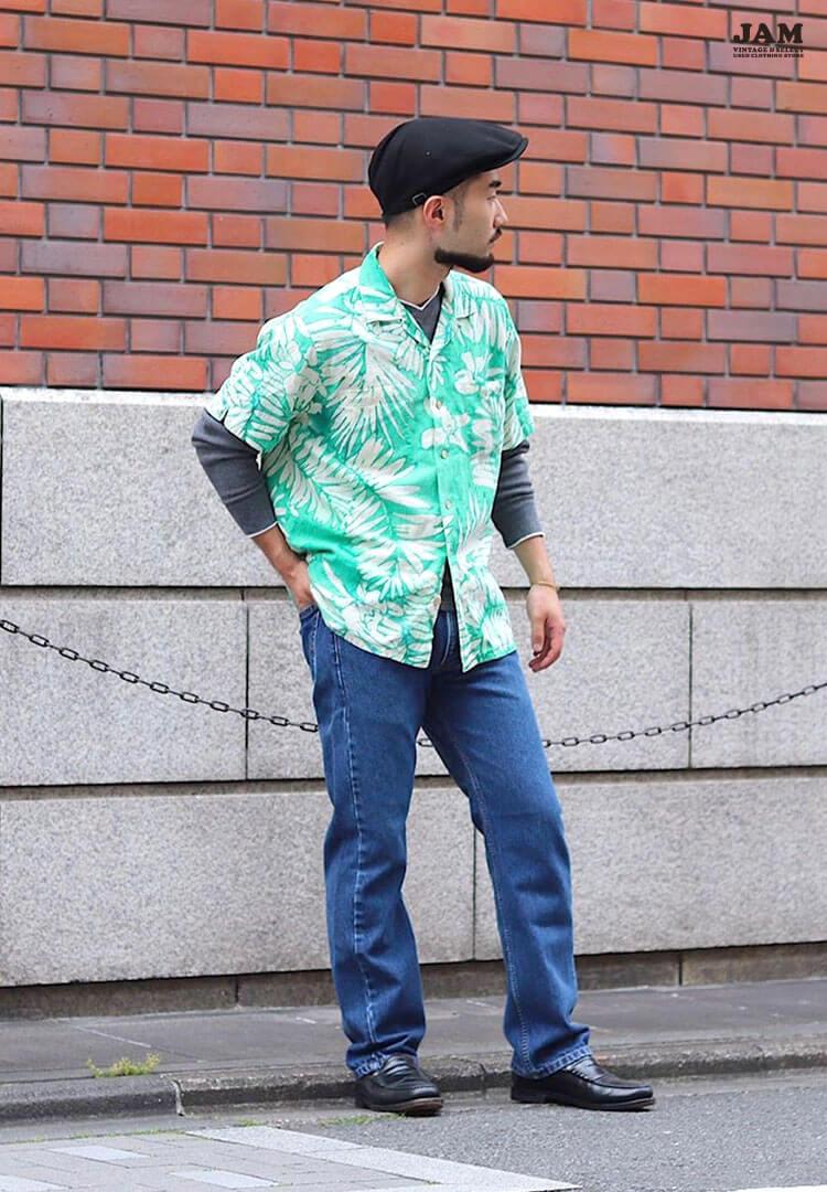 古着屋JAMのアロハシャツコーデ