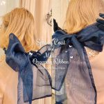 *multi orgady ribbon -navy-*