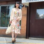 【one-piece×blouse×sabot sandal】