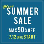 〜MORE SUMMER SALE 50%OFF〜