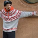 Nordic sweater × 90's street style 古着屋 JAM 京都