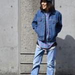 デニムonデニムでちょっぴり男らしく~springstyle~古着屋 JAM 京都