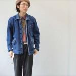 カバーオール × レーヨンシャツ で都会的且つ抜け感あるスタイリングに◎ 古着屋JAM京都店