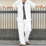 シルクシャツ × Calvin klein × ビルケン