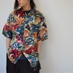 柄シャツ×レーヨンシャツ×シルクシャツ