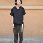 ホスピタルシャツ × スラックス × dansko