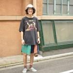 オールドロックTee、スイムショーツで夏フェスへ。 古着屋 JAM 京都店