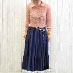 ポップコーントップス × 70sギャザースカート 古着屋JAM JAM京都レディース店