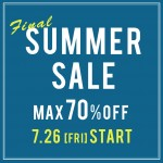 FINAL SUMMER SALE 70%OFF