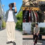 【古着屋JAM京都四条店】この夏買うべき!半袖柄シャツの着こなし2パターン