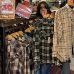 【古着屋JAM京都三条店】スウェット×秋冬のネルシャツはこう着こなす!