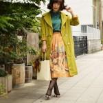 *  Aquascutum × 50s Landscape pattern skirt *
