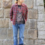 ~band T × checkshirt style~