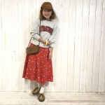 80s Champion ×50s circular skirt MIX style