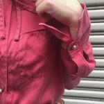 70年代 デニムベスト×シルクシャツ×チェックパンツ
