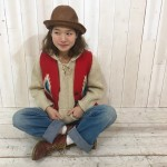 【lace up knit × chimayo vest × 50s denim】