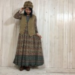 ~70sVelor Best×India cotton dress~