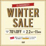 ~冬のお客様大感謝祭in桃谷店~ ファイナル70%OFFセール 【オススメ編】