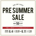 ~2019年 PRE SUMMER SALE~in桃谷店 【30%OFFのすゝめ】