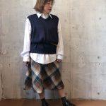 ~TODAY'S RECOMMEND~【ニットベスト×シャツ×スカート×ウィングチップシューズ】