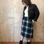 ~TODAY'S RECOMMEND~【デニムジャケット×コットンニット×スカート×ブーツ】