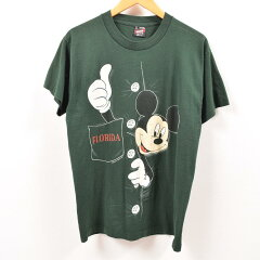 FRUIT OF THE LOOM MICKEY MOUSE ミッキーマウス キャラクタープリントTシャツ USA製 レディースM /wbe7974 【190622】