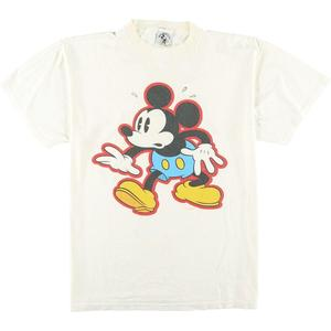 MICKEY&CO. MICKEY MOUSE ミッキーマウス キャラクタープリントTシャツ USA製 レディースXL /eaa056010 【200706】